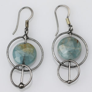Aquamarine Earrings - Connecting us to the Sea / Water energies. Calling Dolphins to share their Wisdom with us.