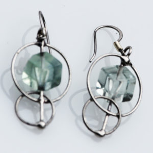 Fluorite Earrings - Connecting us to Higher Energies, feeling calm & supported.