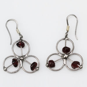 Garnet Earrings - Known as the 'Stone of commitment' strengthens determination & devotion to a cause or goal & to other people. Strengthens self-confidence.