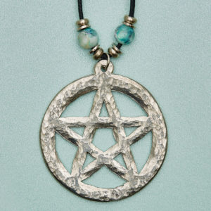 The Pentagram (5-pointed star) is an ancient powerful symbol. Standing with feet firmly on the ground. Arms outstretched. Head receiving inspiration from above. Protects & inspires our Inner Wisdom. Our Goddess energies.