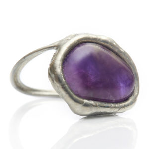 Amethyst Ring - Amethyst assist us with Transformation.