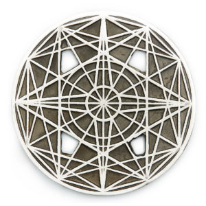The 2 triangles of Spirit & Matter assist one in focusing & manifesting our heart's desires into this world. The squares help to stabilize & ground our wishes. The cross keeps all in balance. Wear this symbol to receive limitless ABUNDANCE from the Universe.