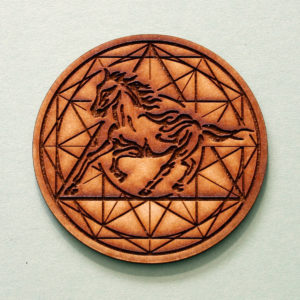 Horse Galloping through life with beauty & grace. Awakening the wild spirit within. Symbol of freedom & power. Horse possesses mystical qualities… appearing with wings: Pegasus or a magical horn: Unicorn. These graceful creatures can teach us a lot. Supported by the Geometry of 12... Completion. Ending old patens,so one can welcome in new energies.