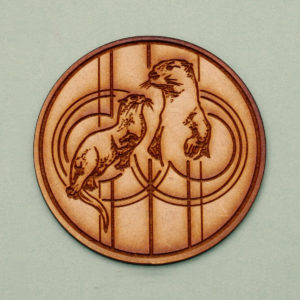 Animals Disc in Sacred Geometry - Otter